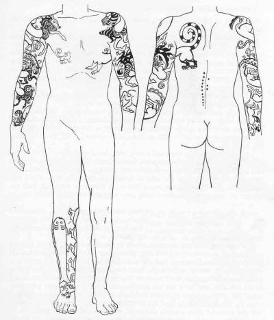 The Danes, Norse, and Saxons used tattoos to identify family symbols, etc.